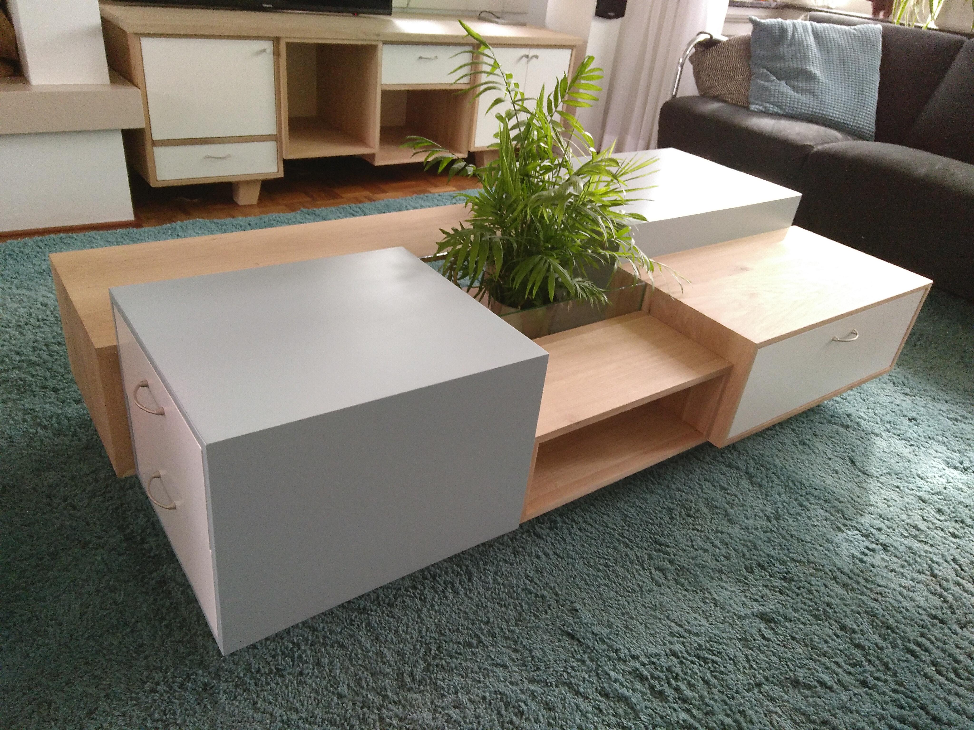 salontafel en tv-kast